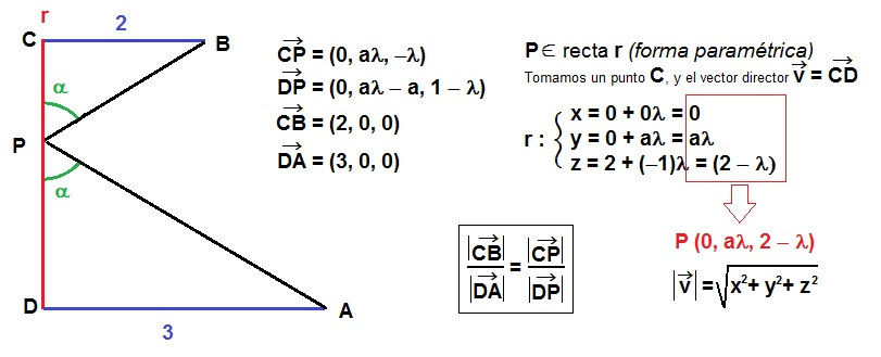resolución del problema por semejanza de triángulos